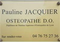 Ostéopathe : Mme Jacquier Pauline